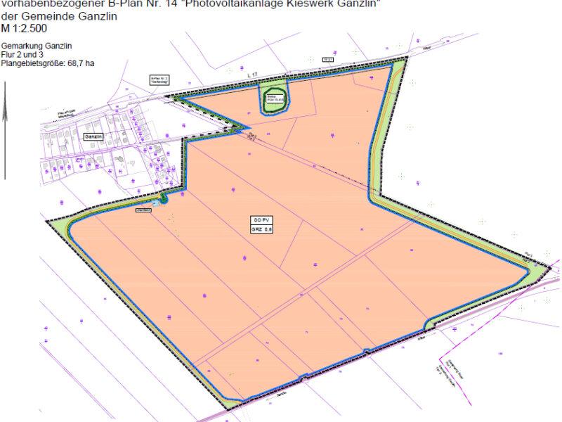 B-Plan Solarpark Ganzlin